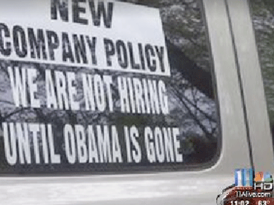Georgia Company's Sign Says 'No Hiring Until Obama Is Gone'