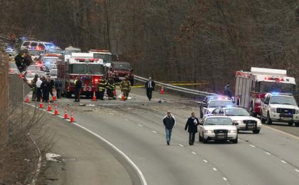 Plane Crashes on a New Jersey Highway