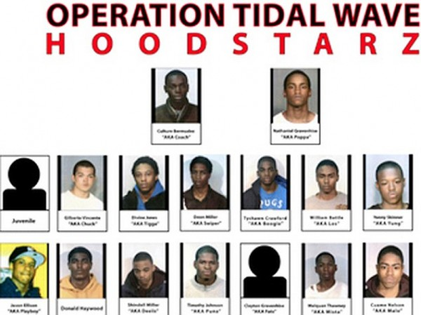 The Faces Of The Gang Members Arrested After Bragging On Facebook and Twitter