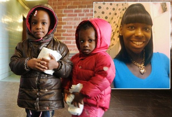 Sisters aged 3 and 5 deserted in Brooklyn by mother with just a few extra diapers