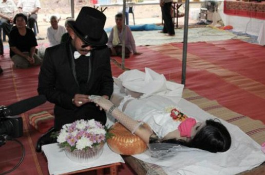 Video: News Report: Man Marries Dead Girlfriend In Thailand!