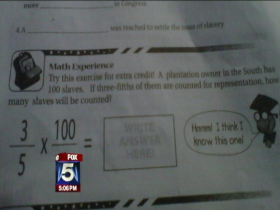 Another Georgia Elementary School Gives Students Math Problem Referencing Slaves
