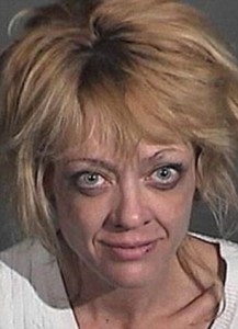 Lisa Robin Kelly arrested: Mugshot of That '70s Show star after 'domestic attack on male roommate' | Mail Online