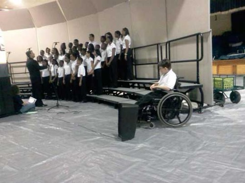 Wheelchair Bound Student Sidelined During Chorus Performance