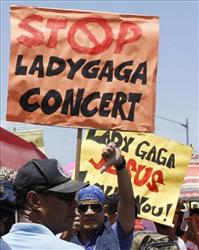 Young Christians Protest Lady Gaga in Philippines - But show will go on, says concert promoter