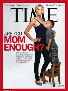 Time magazine cover shows Jamie Lynne Grumet, 26, breastfeeding son, almost 4