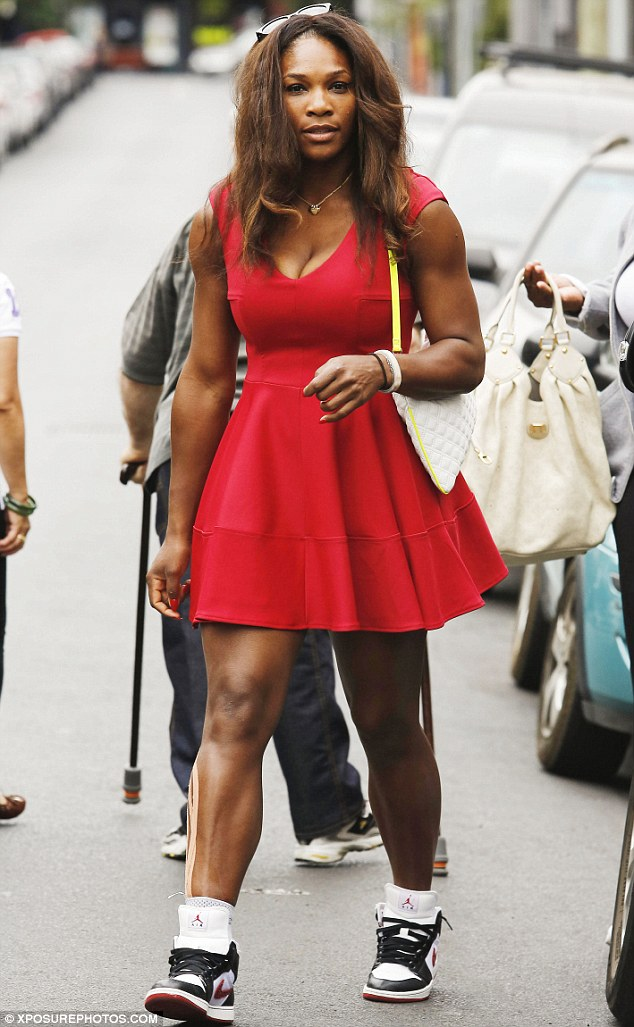 Who needs the champion's ball? Serena Williams gets over Australian Open loss by going on shopping spree with beau