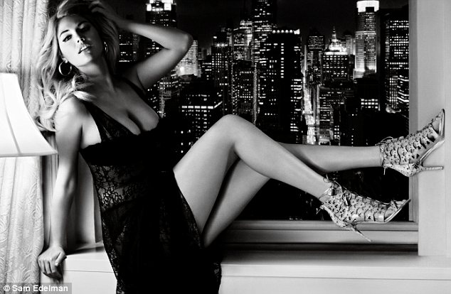 'We chose her because she isn't stick-thin': Kate Upton's curves land her a starring role in Old Hollywood-inspired ad campaign