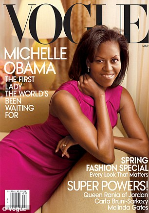 Is Michelle Obama set to front ANOTHER Vogue cover? Rumor mill in overdrive after magazine crew is spotted at White House