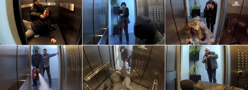 What would YOU do if you stumbled across a murder? Elevator prank captures people's reactions to a fake killing (and, yes, one of them even took photos on his cell phone)