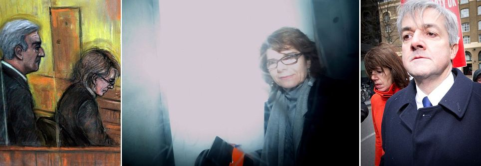 Off to jail: Vicky Pryce in prison van as she begins eight-month term along with ex-husband Chris Huhne for speeding points scam