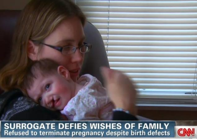 Surrogate mom offered $10K to abort baby after parents discover she would be born with disabilities