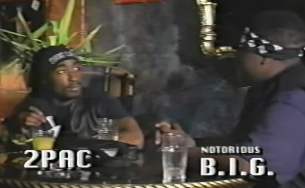 Tupac and Biggie freestyle in the footage that you'll never forget