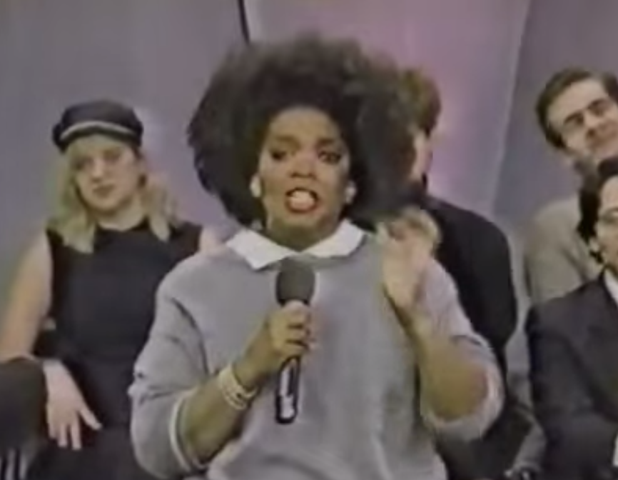 Oprah goes head-to-head with skinheads: And they hate her