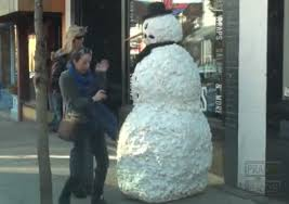 Funny Scary Snowman Prank!